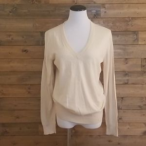 Sweaters - JCrew Deep V-neck Summer Sweater - Cream - L